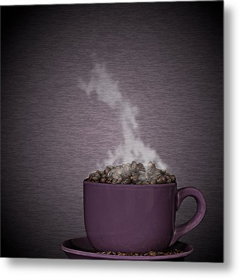 Metal Print featuring the photograph Hot Coffee by Gert Lavsen