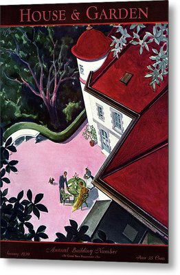 House And Garden Annual Building Number Cover Metal Print by Walter Buehr