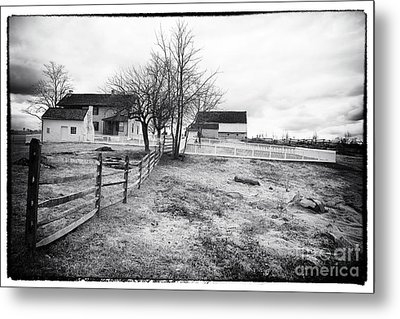 House In The Field Metal Print by John Rizzuto