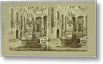 House Of The Grand Inquisitor In Barcelona Spain Spain Metal Print