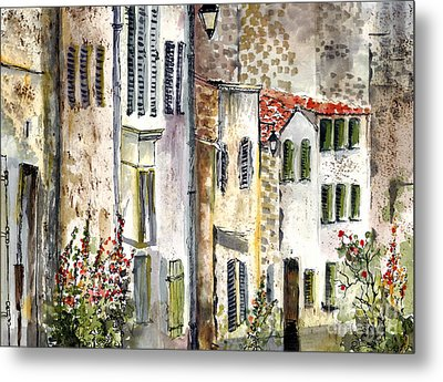 Houses In La Rochelle France Metal Print by Ginette Callaway