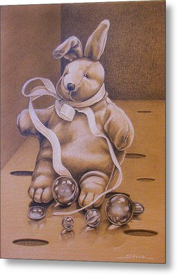 How To Lose Your Marbles Metal Print by Susan Helen Strok