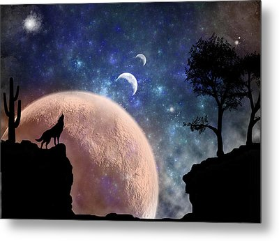 Howling At The Moon Metal Print by Regina  Williams