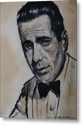 Metal Print featuring the drawing Humphrey Deforest Bogart -1  by Eric Dee