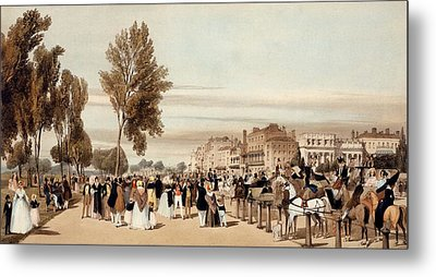 Hyde Park, Towards The Grosvenor Gate Metal Print by Thomas Shotter Boys