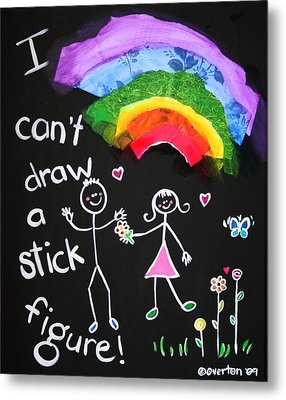 I Can't Draw A Stick Figure Metal Print