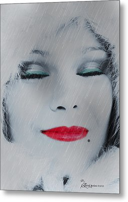I Love To Smell Fresh Rain Metal Print by EricaMaxine  Price