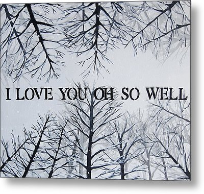 I Love You Oh So Well Dmb Painting Metal Print by Michelle Eshleman
