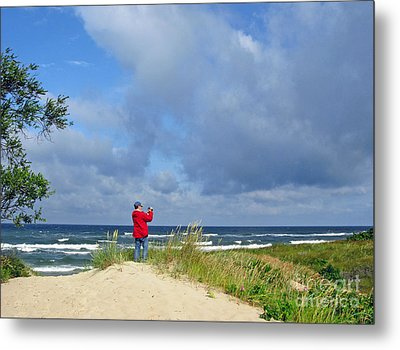 I See The Sea. Juodkrante. Lithuania Metal Print by Ausra Huntington nee Paulauskaite