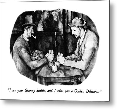 I See Your Granny Smith Metal Print by Robert Mankoff