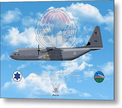 Iaf C-130j Shimshon Metal Print