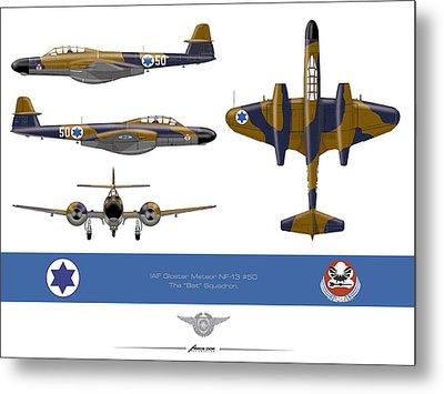 Iaf Gloster Meteor Nf 13 Nr 50 Metal Print