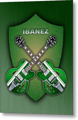 Ibanez Geen Shield Metal Print by Doron Mafdoos