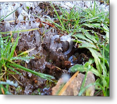 Ice Images Metal Print by Steve Battle