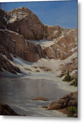 Ice Lake - July  Metal Print