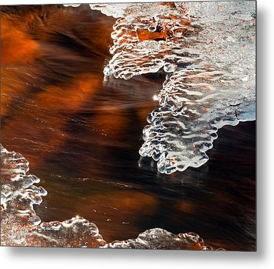Ice Sculpting  Metal Print