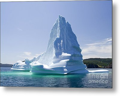 Metal Print featuring the photograph Iceberg Canada by Liz Leyden