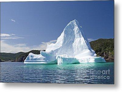 Metal Print featuring the photograph Iceberg Newfoundland Canada by Liz Leyden