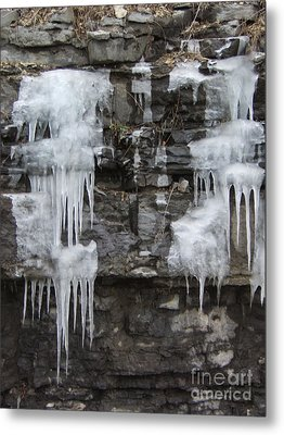 Icy Ledges Metal Print by Margaret McDermott