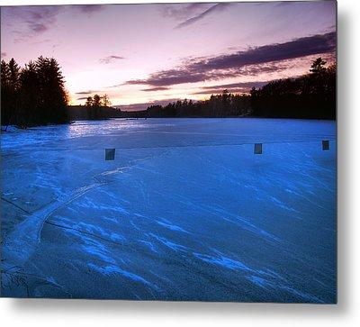 Icy Sunset Metal Print by Joann Vitali