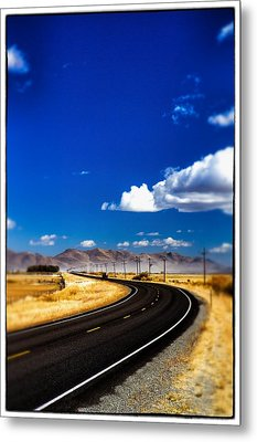 Idaho Road Titl Shift Metal Print by For Ninety One Days