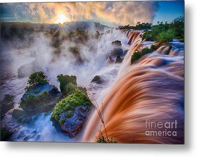 Iguazu Sunrise Metal Print
