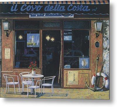 Il Covo Della Costa Metal Print by Guido Borelli