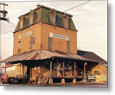 Illinois Feed Mill Metal Print by Robert Birkenes