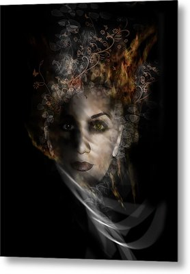 Metal Print featuring the digital art Illusory by Katy Breen