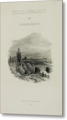 Illustrated Title Page Of Middlemarch Metal Print