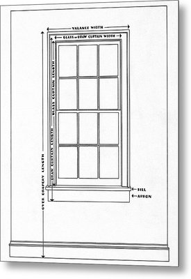 Illustration Of A Window Metal Print by Harry Richardson