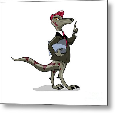 Illustration Of An Iguanodon Clerk Metal Print