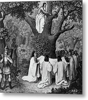 Illustration Of Druid Priests Metal Print