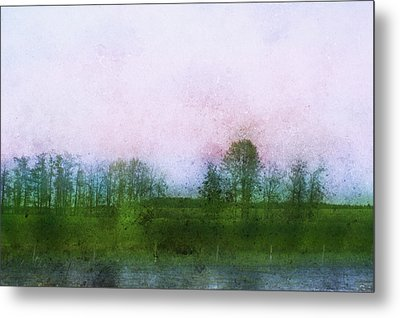 Impressionistic Style Of Trees Metal Print by Roberta Murray