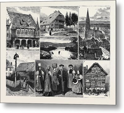 In And About The Black Forest 1. The Merchants Hall Metal Print by English School