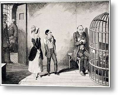 In Prison Metal Print by British Library