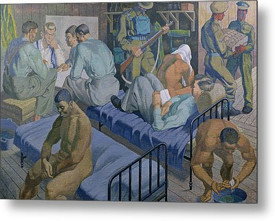 In The Barracks, 1989 Metal Print by Osmund Caine