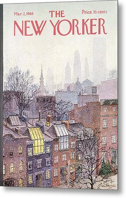 In The Borough Metal Print by Albert Hubbell