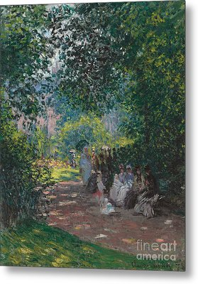 In The Park Monceau Metal Print by Cluade Monet