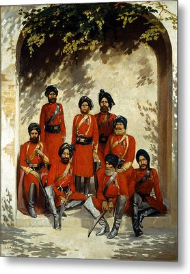 Indian Army Officers Metal Print by Gordon Hayward