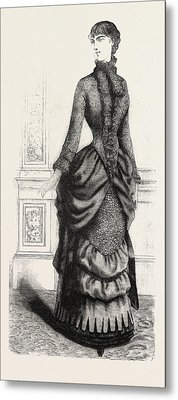 Indoor Toilette Front, Fashion Metal Print by English School