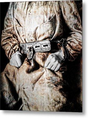 Insane Person In Restraints Metal Print by Daniel Hagerman