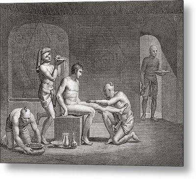 Inside An Egyptian Bathhouse, C.1820s Metal Print by Dominique Vivant Denon