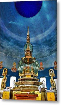 Inside Crystal Pagoda Metal Print by Suradej Chuephanich
