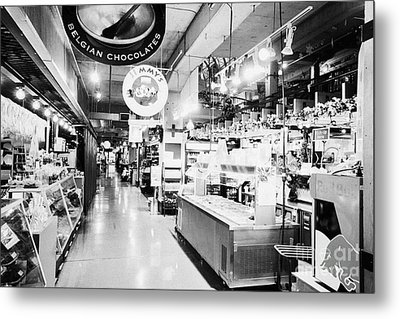 inside lonsdale quay market shopping mall north Vancouver BC Canada Metal Print by Joe Fox