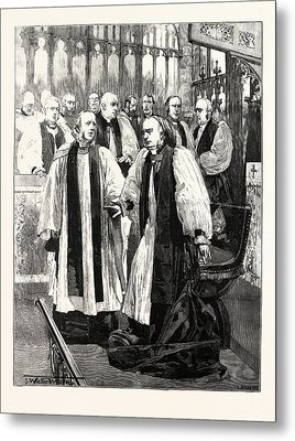 Installation Of The Archbishop Of York In York Minster Metal Print by English School
