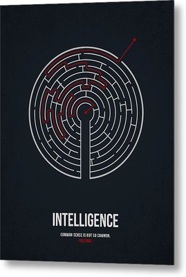 Intelligence Metal Print by Aged Pixel