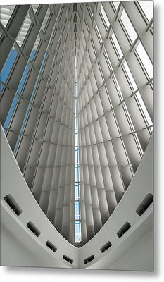 Interior Milwaukee Art Museum Metal Print by Paul Plaine