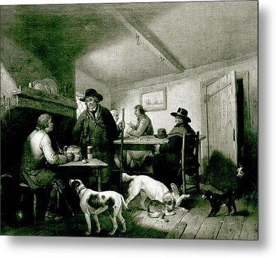 Interior Of A Country Inn Metal Print by George Morland
