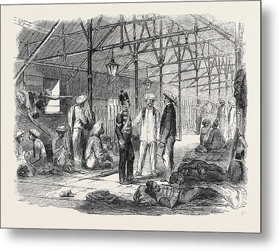 Interior Of A Mat Shed In Hong Kong Metal Print by English School